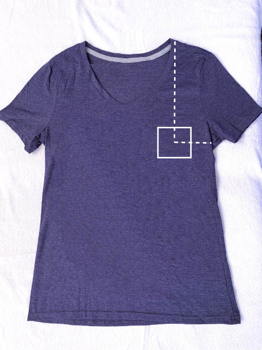 decal sizes for shirts