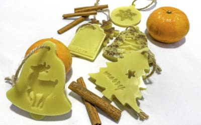 How to make beautiful beeswax ornaments tutorial