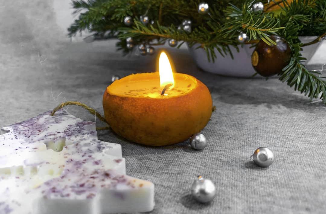 homemade easy citrus candle DIY