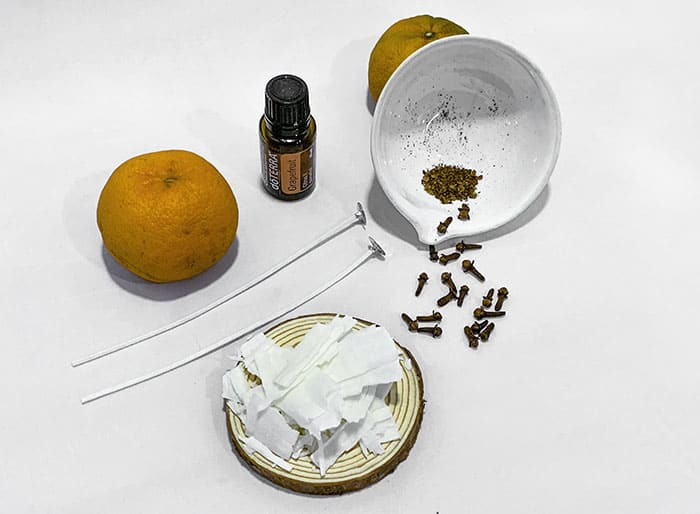 what you need to make a citrus candle