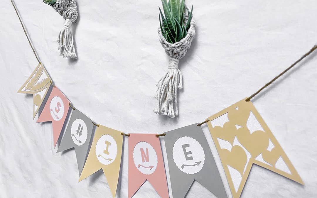 How to make a festive banner with cricut