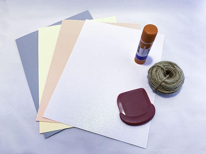 cardstock banner tutorial shopping list