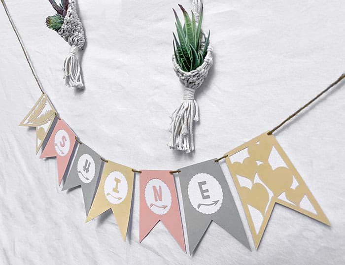 cardstock banners with cricut